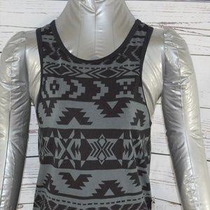 Express Black Gray Sleeveless Tank Dress Size Med